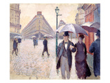 Sketch for 'Paris Street; Rainy Day', 1877 Reproduction procédé giclée par Gustave Caillebotte