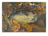 The Weald of Kent, C.1827-28 (W/C and Gouache on Paper) Giclee Print by Samuel Palmer