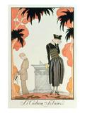Falbalas Et Fanfreluches, Almanach Des Modes, Fashions for 1921 (Pochoir Print) Giclee Print by Georges Barbier