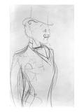 Portrait of Boni De Castellane (Pencil on Paper) Giclee-trykk av  Sem