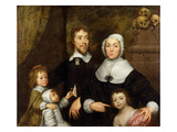 Portrait of a Family, Probably That of Richard Streatfeild, c.1645 Giclée-vedos tekijänä William Dobson