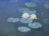 Waterlilies, Evening Gicléedruk van Claude Monet