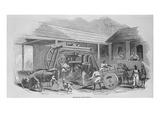 The Sugar Mill, C.1835 (Litho) Giclee Print by Johann Moritz Rugendas