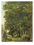 A Wooded Landscape (Oil on Paper on Panel) Giclee Print by Ramsay Richard Reinagle