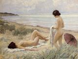 Summer on the Beach Lámina giclée por Paul Fischer