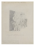 Drawing for the Map of the Moon, 1794 (Pencil on Paper) Giclee Print by John Russell