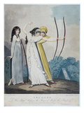 Archers, Engraved by J.H. Wright (Fl.1795-1838) and Conrad Ziegler, 1799 (Aquatint) Giclée-tryk af Adam Buck