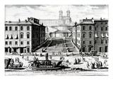 Piazza Di Spagna, C.1740 (Engraving) Giclée-Druck von Giuseppe Vasi