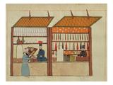 Ms. Cicogna 1971, Miniature from the 'Memorie Turchesche' Depicting Turkish Merchants Giclée-Druck von  Venetian