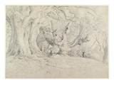 Ancient Trees, Lullingstone Park, 1828 (Graphite on Paper) Giclee Print by Samuel Palmer