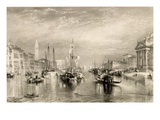 The Grand Canal, Venice, Engraved by William Miller (1796-1882) 1838-52 (Engraving) Giclee Print by J. M. W. Turner
