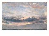 A Cloud Study, Sunset, C.1821 (Oil on Paper on Millboard) Giclee Print by John Constable