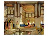 The Reception, 1873 (Oil on Panel) Giclée-tryk af John Frederick Lewis