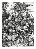 The Four Horsemen of the Apocalypse, 1498 (Woodcut) Reproduction procédé giclée par Albrecht Dürer