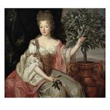 Portrait of Francoise Marie De Bourbon (1677-1749) Duchess of Orleans (Mademoiselle De Blois) Reproduction procédé giclée par Pierre Gobert