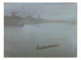 Thames - Nocturne in Blue and Silver, c.1872/8 Reproduction procédé giclée par James Abbott McNeill Whistler