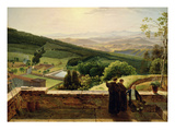 View of Vallombrosa, Near Florence Giclée-tryk af Louis Gauffier
