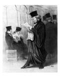 Les Gens De Justice, Cartoon from 'Le Charivari', 26 March, 1846 (Litho) Lámina giclée por Honore Daumier