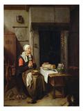 The Grace (Oil on Panel) Giclée-Druck von Quiringh Gerritsz. van Brekelenkam