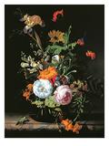 Still Life of Summer Flowers Giclee-trykk av Rachel Ruysch