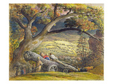 The Timber Wain, C.1833-34 (W/C and Gouache on Paper) Giclee Print by Samuel Palmer
