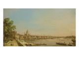 The Thames from the Terrace of Somerset House Looking Towards St. Paul's, c.1750 Impressão giclée por  Canaletto