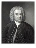 Portrait of Johann Sebastian Bach, German Composer (Engraving) Gicléetryck av Elias Gottleib Haussmann