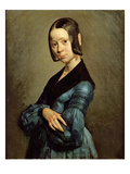 Pauline Ono (1821-44) in Blue, 1841-42 Impressão giclée por Jean-François Millet