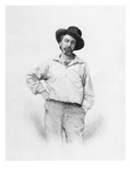 Walt Whitman, Frontispiece to 'Leaves of Grass', 1855 (Engraving) Giclee Print by  American