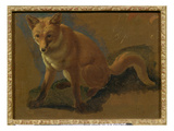 Study of a Fox (Oil on Panel) Giclée-tryk af Jacques-Laurent Agasse