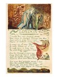London', Plate 38 from 'songs of Experience', 1794 (Colour Printed Etching with W/C) Giclée-Druck von William Blake