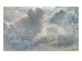 Study of Cumulus Clouds, 1822 (Oil on Paper Laid on Canvas) Giclee Print by John Constable