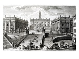 Piazza Del Campidoglio (Engraving) Giclée-Druck von Giuseppe Vasi
