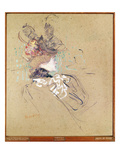 Profile of a Woman, 1896 (Oil on Card) Giclee-trykk av Henri de Toulouse-Lautrec