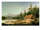 Home in the Woods, 1847 Giclée-tryk af Thomas Cole