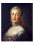 Grand Duchess Ekaterina Alekseyevna Giclee-trykk av Alexei Petrovich Antropov