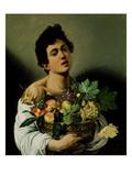 Youth with a Basket of Fruit, 1594 (Detail) Lámina giclée por  Caravaggio