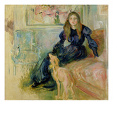 Julie Manet (1878-1966) and Her Greyhound Laerte, 1893 Giclee Print by Berthe Morisot