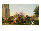 Lord Torrington's Hunt Servants Setting Out from Southill, Bedfordshire, c.1765-8 Giclée-tryk af George Stubbs