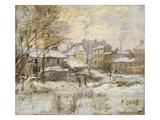 Snow Effect with Setting Sun, 1875 Giclée-Druck von Claude Monet