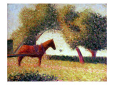 The Harnessed Horse, 1883 Gicléedruk van Georges Seurat