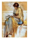 Female Figure Study (Pastel on Paper) Giclee Print by Albert Joseph Moore