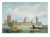 The New Houses of Parliament, Engraved by Thomas Picken Published by Lloyd Bros. and Co., 1852 Giclee Print by Edmund Walker