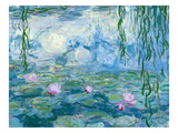 Waterlilies, 1916-19 (Detail) Giclee-trykk av Claude Monet
