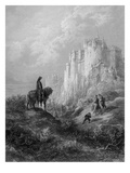 Camelot, Illustration from 'Idylls of the King' by Alfred Tennyson (Litho) Giclee-trykk av Gustave Doré