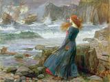 Miranda, 1916, olja på kanvas Gicléetryck av John William Waterhouse