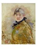 Self Portrait, 1885 Giclée-tryk af Berthe Morisot