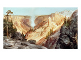 The Grand Canyon of the Yellowstone, 1872 Giclée-tryk af Thomas Moran