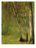 In the Forest at Pontaubert Gicléedruk van Georges Seurat