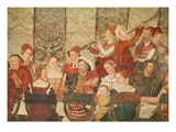 Guests at the Banquet Given by Bartolomeo Colleoni for King Christian I of Denmark Giclee Print by Girolamo Romanino